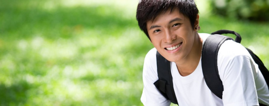 Male Foreign College Student studing ing the UK