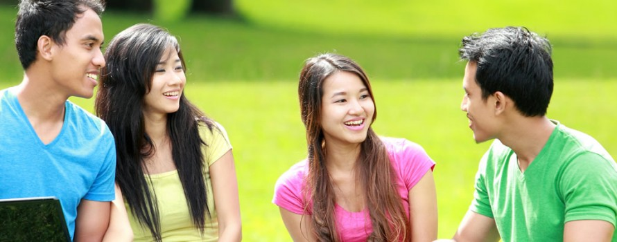 College Students in a park 2