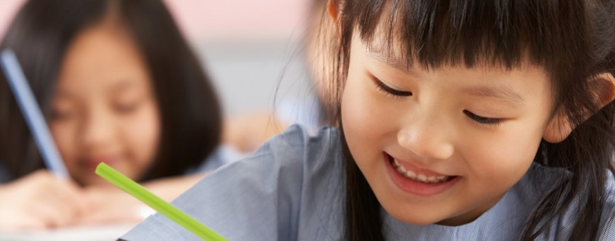 Young Chinese Girl Studying